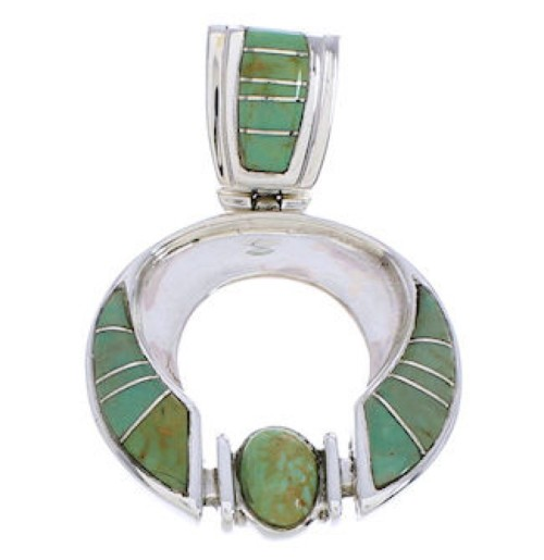 Genuine Sterling Silver Turquoise Slide Pendant EX28463