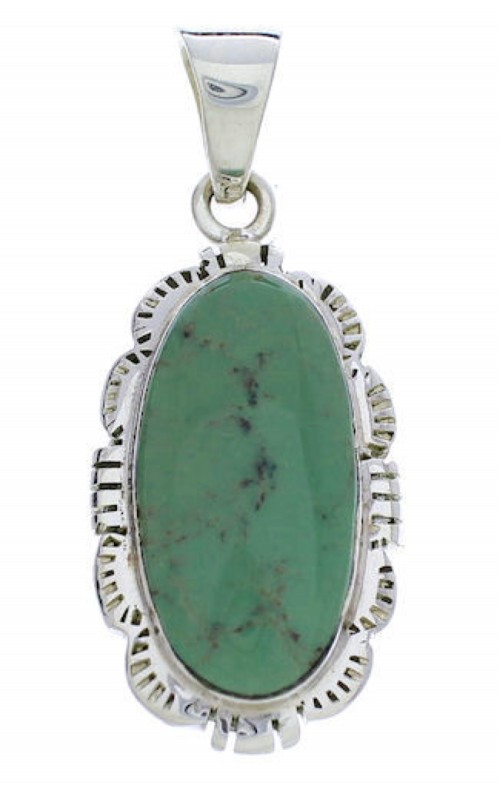 Southwest Jewelry Silver Turquoise Pendant PX30400