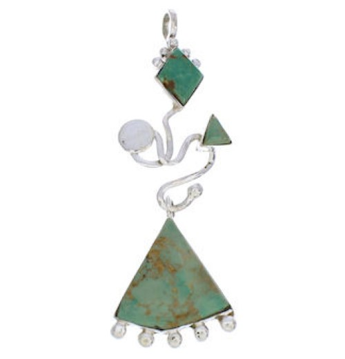 Sterling Silver Turquoise Jewelry Pendant PX24032