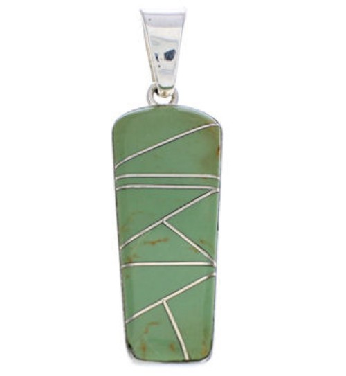 Silver Turquoise Inlay Pendant Jewelry PX24069