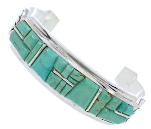 Turquoise Southwest Sterling Silver Jewelry Cuff Bracelet MX27344