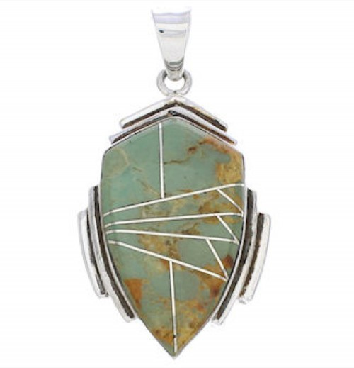 Sterling Silver And Turquoise Jewelry Slide Pendant EX29655