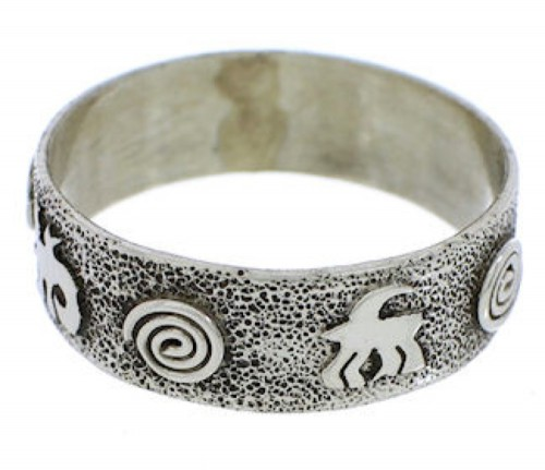 Navajo Indian Jewelry Sterling Silver Lizard Ring Size 6-3/4 EX30328
