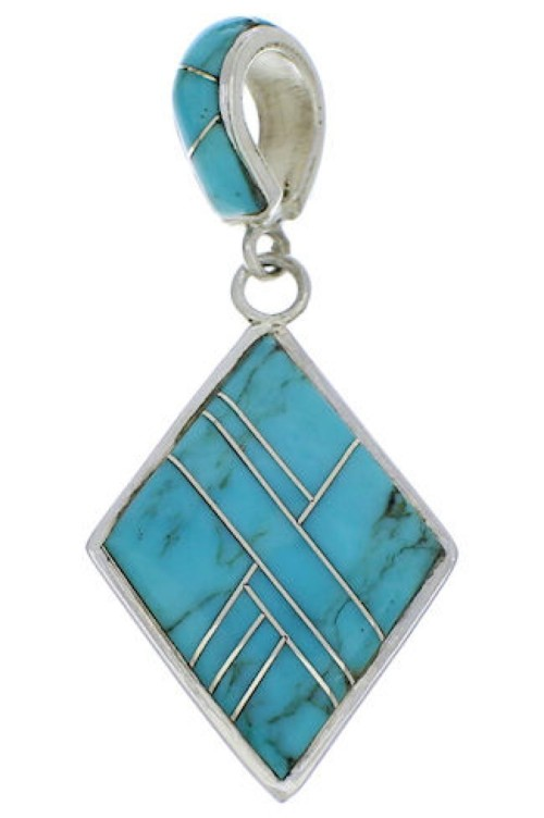 Turquoise and Silver Jewelry Pendant PX23837