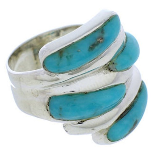 Turquoise Sterling Silver Ring Size 6-1/2 FX21944