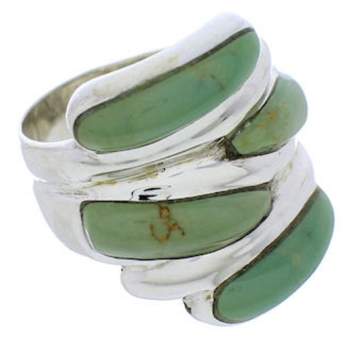 Turquoise Jewelry Silver Southwest Ring Size 7-3/4 FX21970