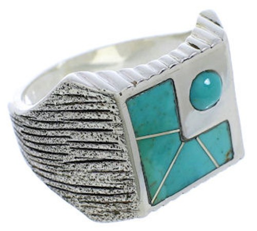 Turquoise And Sterling Silver Southwestern Ring Size 11-3/4 UX33186