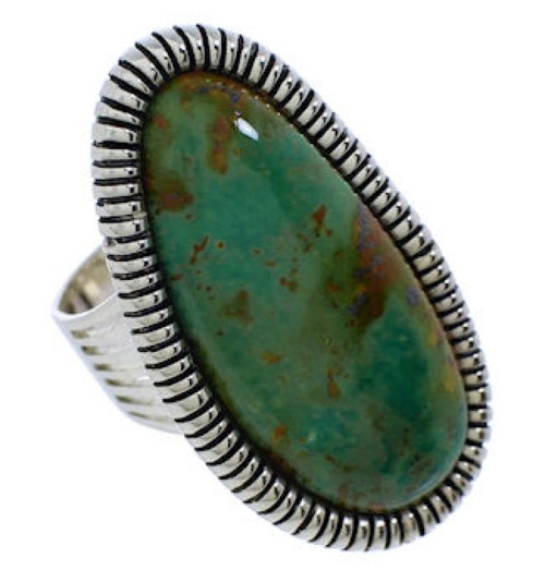 Turquoise Southwestern Jewelry Silver Ring Size 5-1/4 PX41390