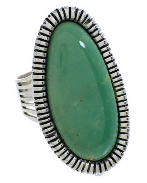 Sterling Silver Turquoise Jewelry Ring Size 8 PX41398