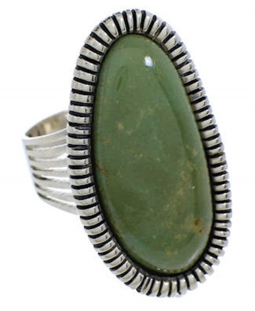 Southwest Jewelry Silver Turquoise Ring Size 8-1/4 PX41401