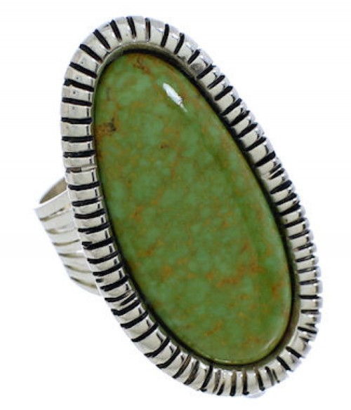 Southwestern Turquoise Genuine Sterling Silver Ring Size 7-3/4 PX41417