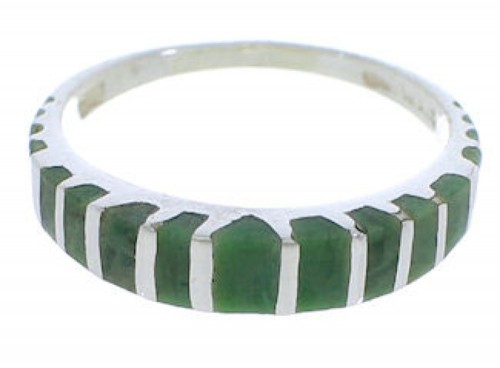 Genuine Sterling Silver Turquoise Inlay Ring Size 6-3/4 UX42494