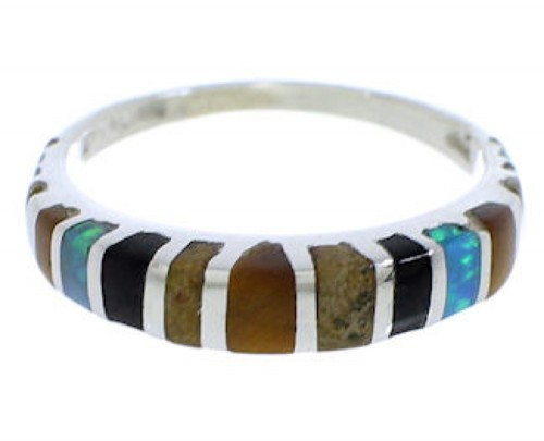 Multicolor Sterling Silver Southwest Ring Size 6-1/4 TX45569