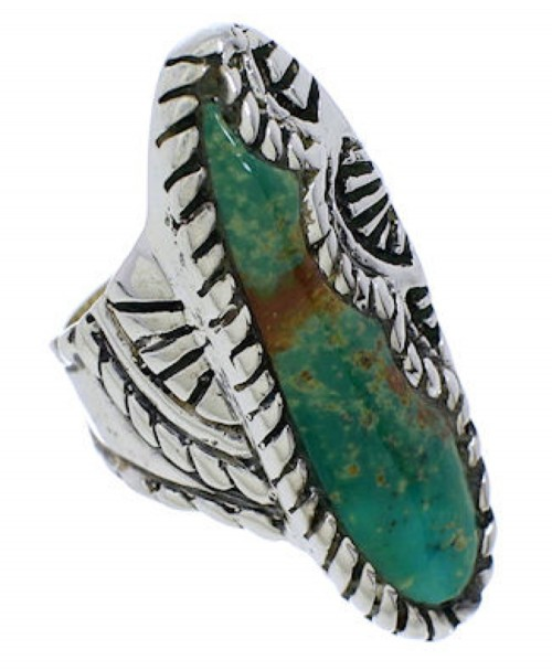 Turquoise Southwest Jewelry Sterling Silver Ring Size 5-1/4 FX22536