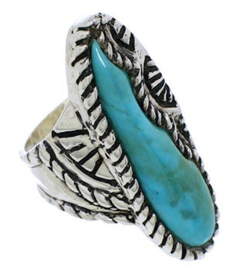 Sterling Silver Turquoise Ring Size 8-1/4 FX22551