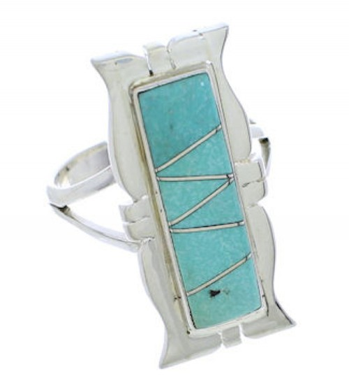 Southwest Sterling Silver Jewelry Turquoise Ring Size 5-1/4 MX23601