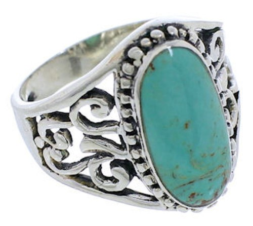 Turquoise And Sterling Silver Jewelry Ring Size 6-1/4 UX33464