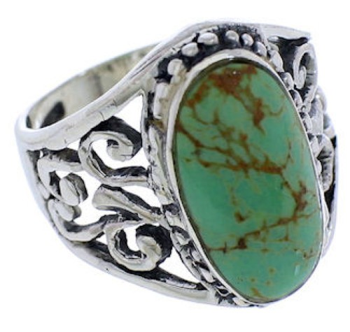 Authentic Sterling Silver And Turquoise Ring Size 5-1/4 UX33468