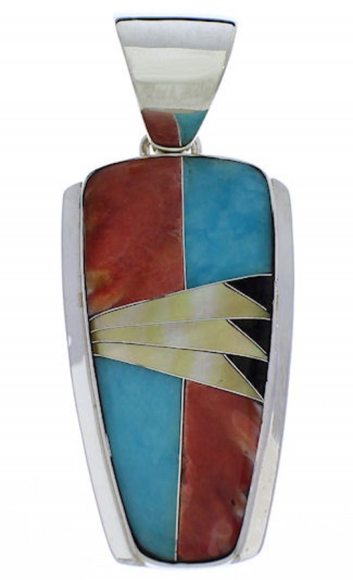 Southwest Silver Jewelry Multicolor Pendant PX30570