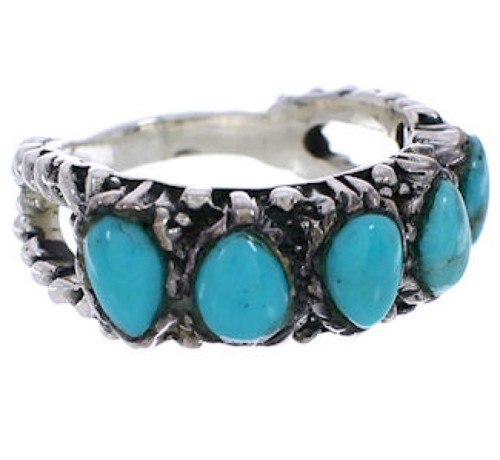 Turquoise Genuine Sterling Silver Ring Size 6-1/4 WX34700