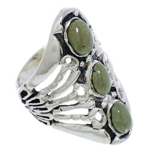 Genuine Sterling Silver Turquoise Ring Size 6-1/2 UX32668