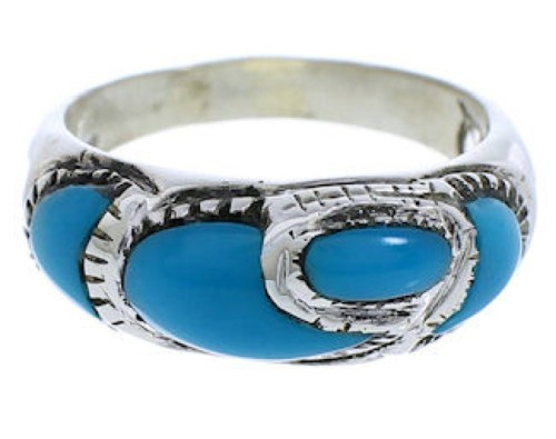 Authentic Sterling Silver Turquoise Southwest Ring Size 8-1/4 JX37288