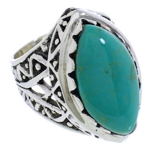 Authentic Sterling Silver Turquoise Southwest Ring Size 5-3/4 TX38914