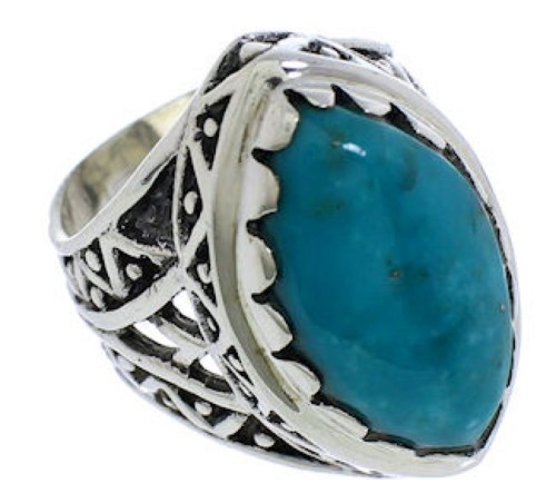Turquoise And Silver Southwest Ring Size 5-3/4 TX38931