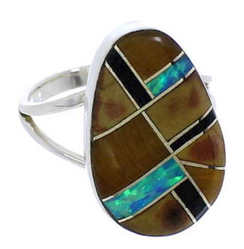Sterling Silver Multicolor Southwest Ring Size 5-1/4 TX39366