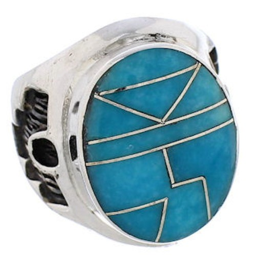 Sterling Silver And Turquoise Southwest Ring Size 5-3/4 TX38615