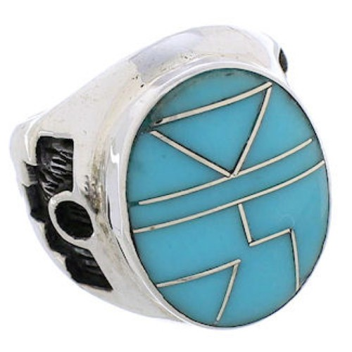 Silver And Turquoise Southwest Ring Size 5-1/2 TX38617