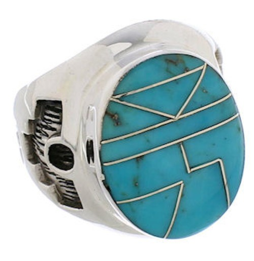 Genuine Sterling Silver And Turquoise Southwest Ring Size 5 TX38635