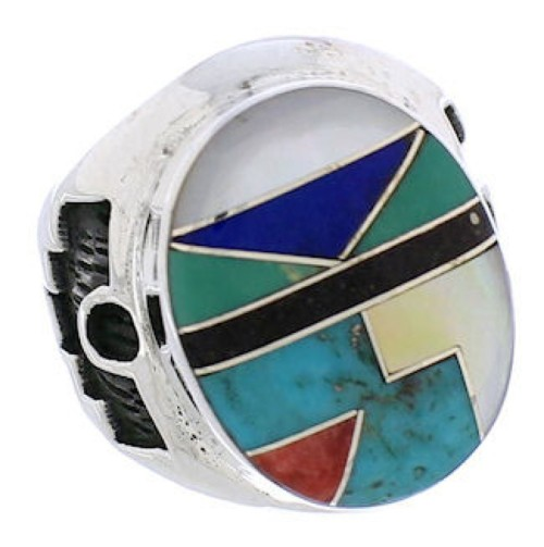 Authentic Sterling Silver Multicolor Southwest Ring Size 6-1/2 TX38726