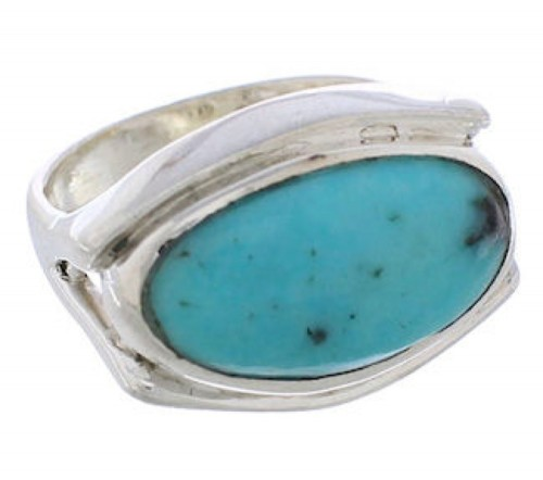 Sterling Silver Southwest Turquoise Jewelry Ring Size 5-3/4 TX39756