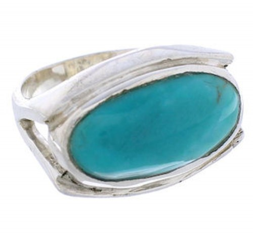 Southwest Silver Turquoise Ring Size 4-1/2 TX39762