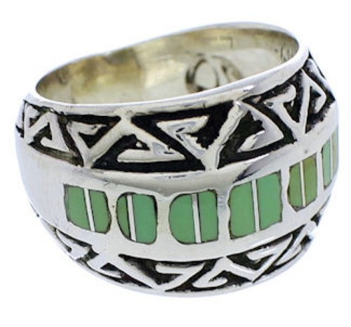 Sterling Silver Southwest Turquoise Ring Size 7-1/4 WX35889