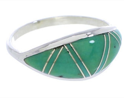 Turquoise And Authentic Sterling Silver Ring Size 4-3/4 ZX36290