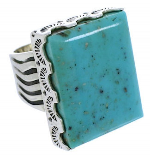 Southwest Turquoise And Sterling Silver Ring Size 6-1/4 YX34641