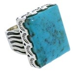 Sterling Silver Turquoise Southwest Ring Size 5-1/2 YX34702