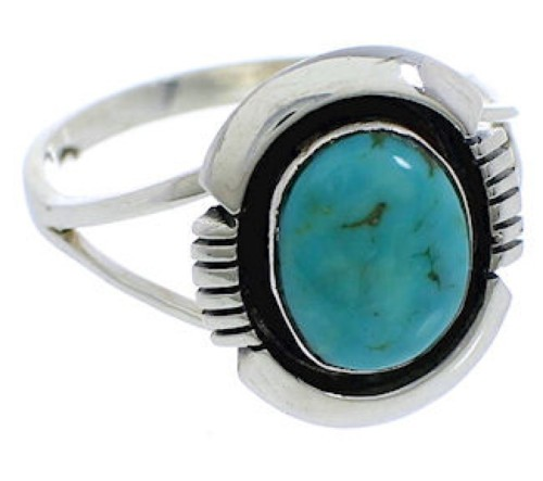 Sterling Silver Southwest Jewelry Turquoise Ring Size 5-3/4 YX34799