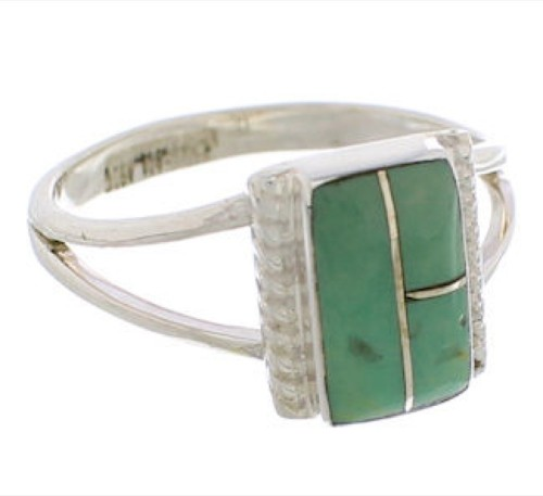 Southwest Silver And Turquoise Ring Size 5-1/2 EX43104