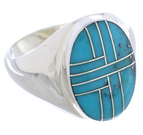 Southwest Turquoise Authentic Sterling Silver Ring Size 11-1/4 WX42007