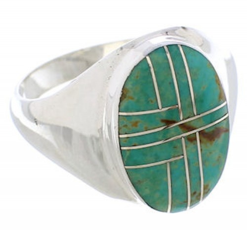 Turquoise Jewelry Genuine Sterling Silver Ring Size 11-3/4 WX42144