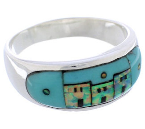 Native American Design Multicolor Southwest Ring Size 10-1/4 TX42012