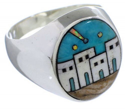 Native American Design Southwest Multicolor Ring Size 12-1/4 TX42243