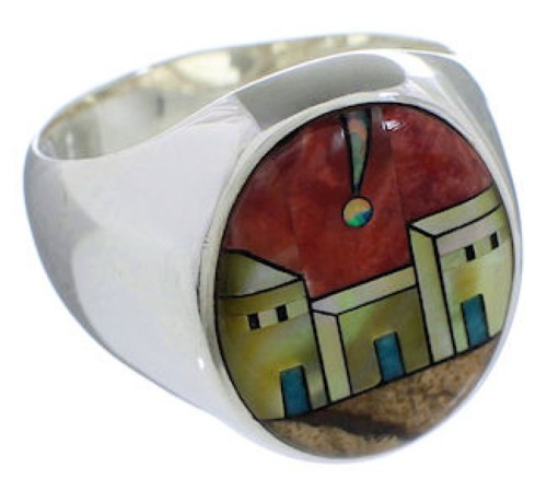 Native American Design Southwest Multicolor Ring Size 9-1/2 TX42263