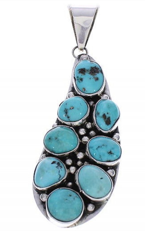 Native American Turquoise Navajo Pendant PX29540