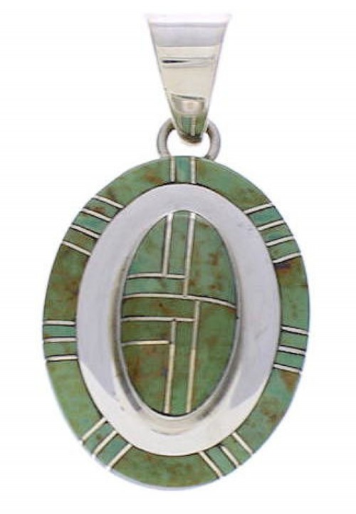 Southwestern Turquoise And Silver Pendant PX29614