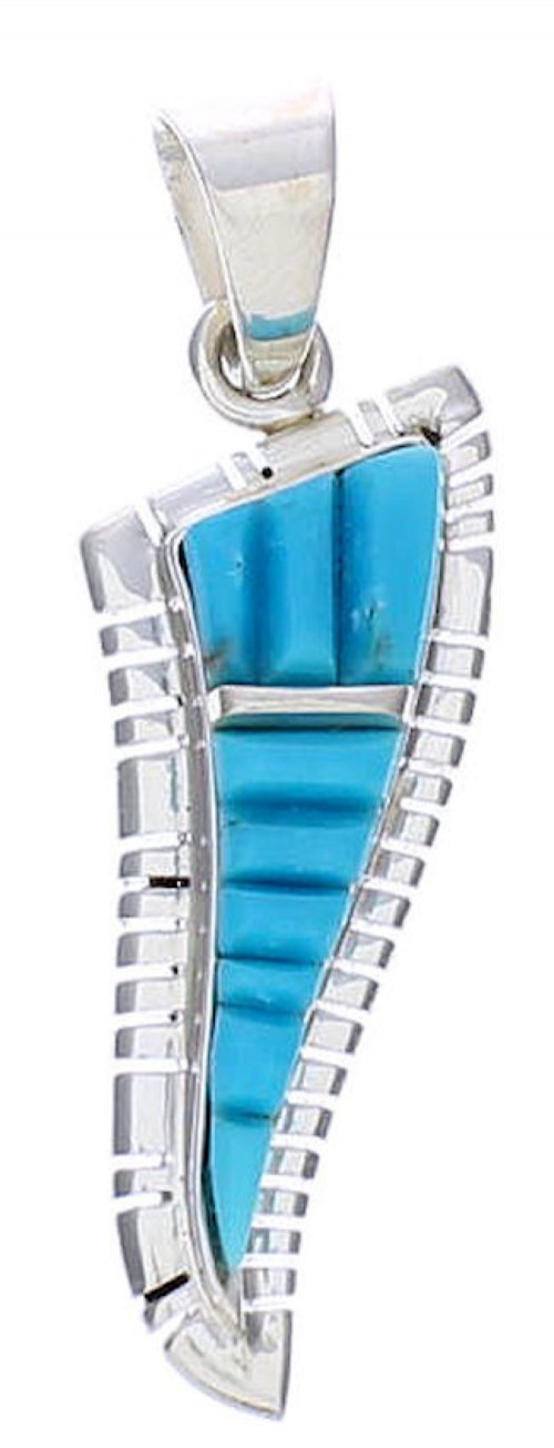 Turquoise Sterling Silver Southwestern Pendant EX29787