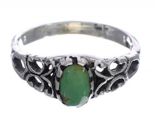 Southwest Sterling Silver Turquoise Jewelry Ring Size 8-1/4 UX34012